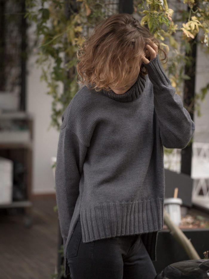 Jersey cuello alto lana Merino 2