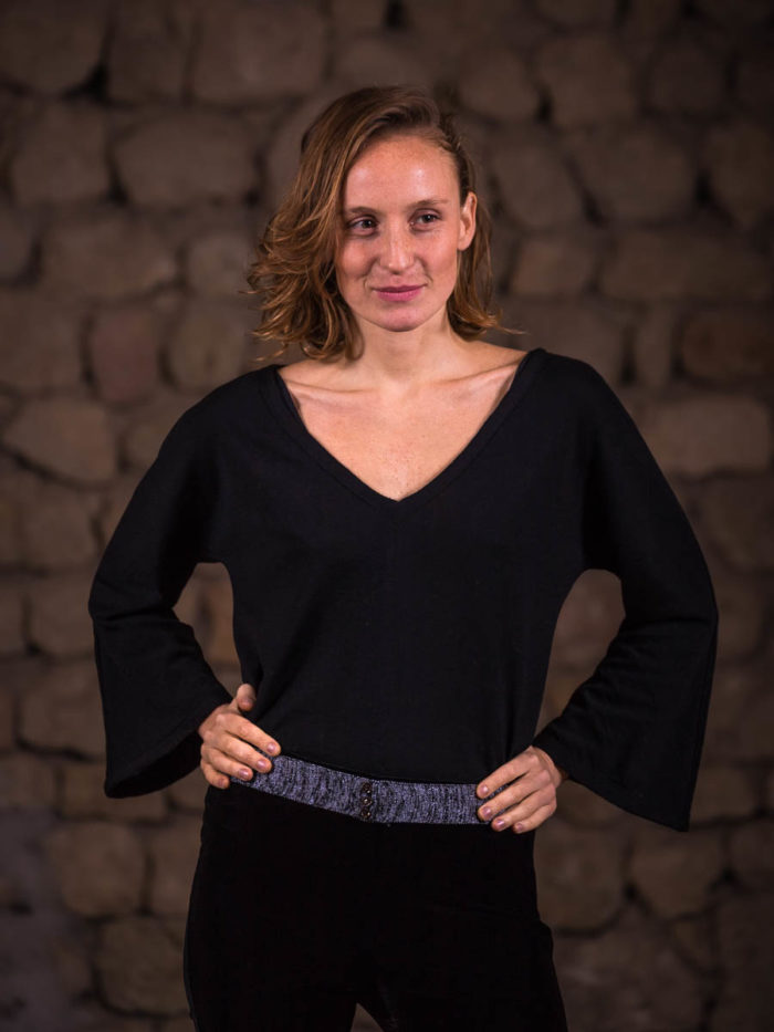 Jersey murciélago lana sostenible