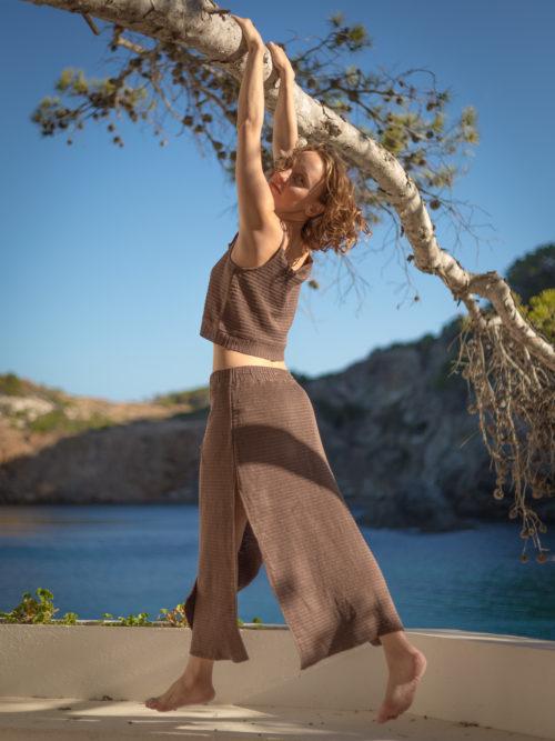 Falda larga lino orgánico Per mi