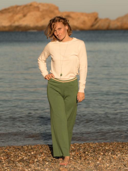 Pantalon tobillo algodón orgánico Per mi